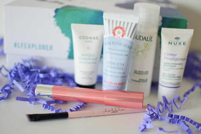 what is inside the March Loofantastic LFEXPLORER Beauty Box