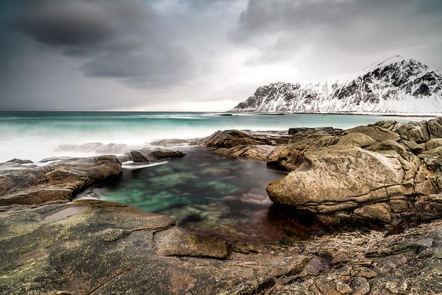 Pool at Skagsanden Beach Lofoten