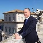 Roma 11-04--2016. Conferenza stampa di {Paolo Grossi}, Presidente della Corte Costituzionale italiana. Nella foto Giovanni Legnini, vice presidente CSM