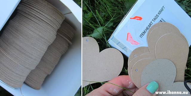 Cardboard hearts in a box by iHanna