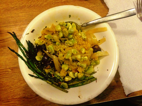 Fava Beans, Asparagus, Carrots, and Quinoa (April 15 2015)