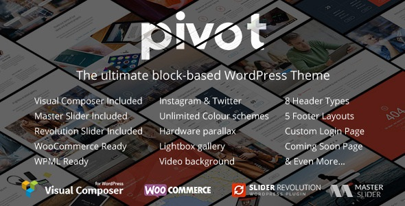 Pivot v1.4.26 - Responsive Multipurpose WordPress Theme