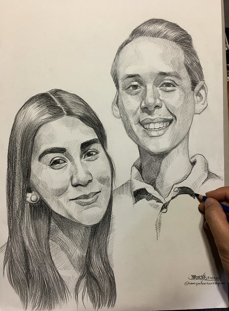 Took me many hours to complete this couple portraits.....