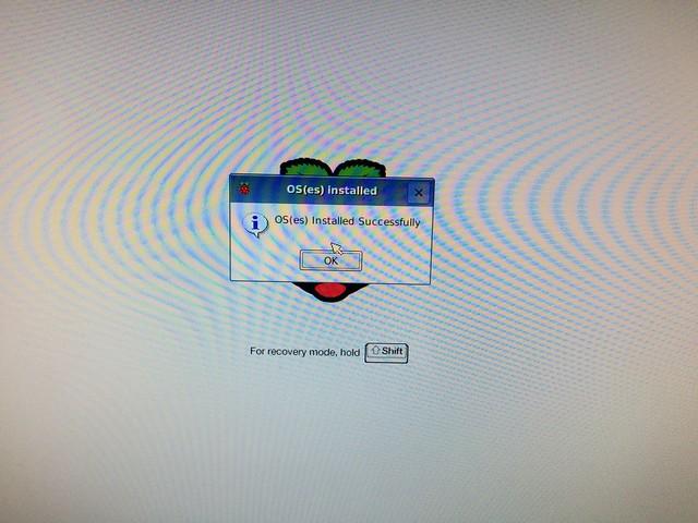 Raspbianインストール完了