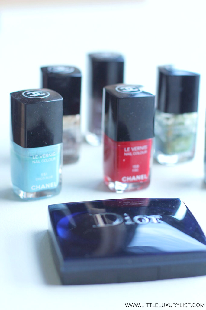 Chanel polishes and Dior blush by little luxury list