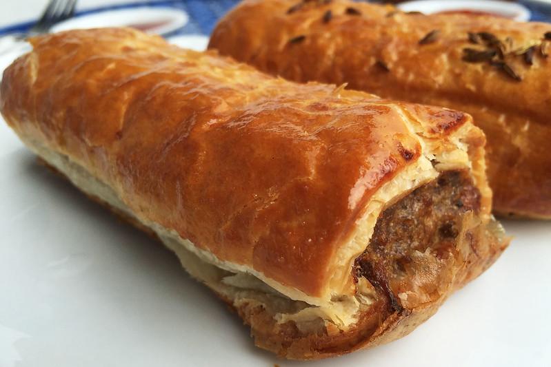 Beef and onion sausage roll, Piccolo Deli
