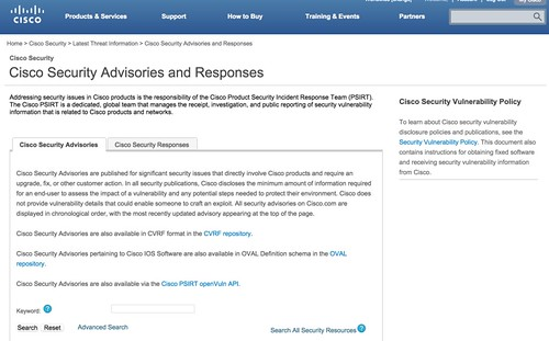 Cisco Security Advisories and Responses_ulml2