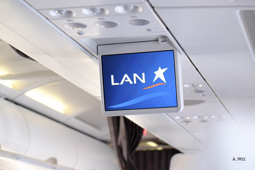 LAN logo on the overhead monitors