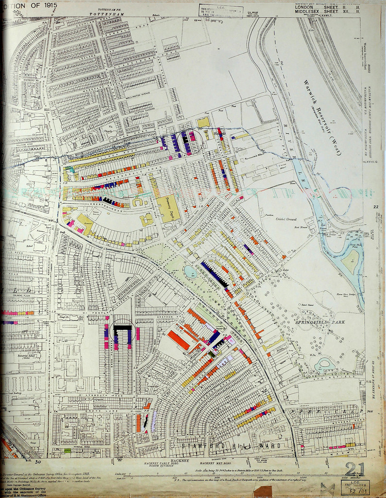 Tottenham London Map.London County Council Bomb Damage Map 1939 1945 Stamford Flickr