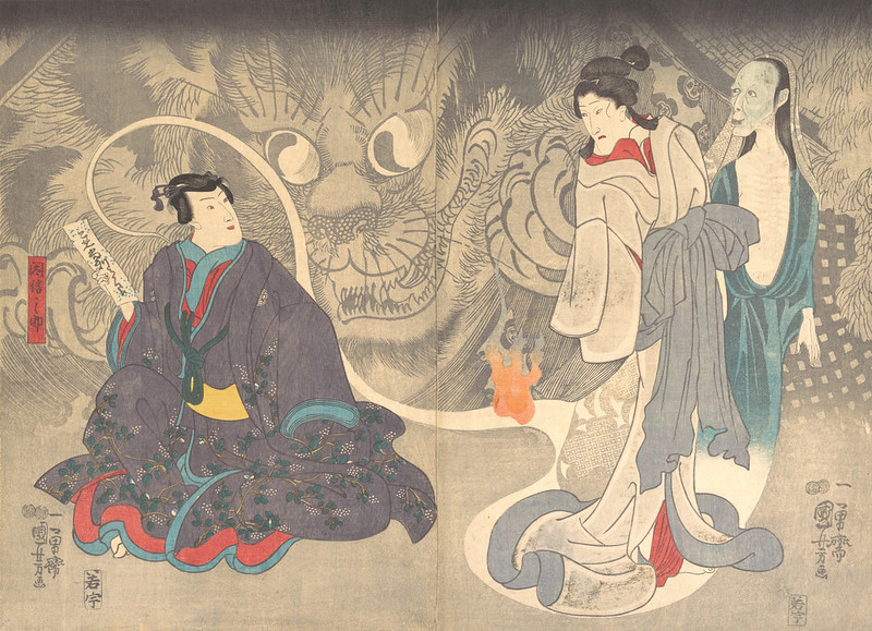 Utagawa Kuniyoshi - Scene from a Ghost Story- The Okazaki Cat Demon, 19th C