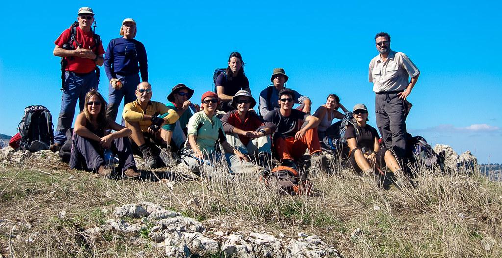El grupo en la cima del Cuquillo