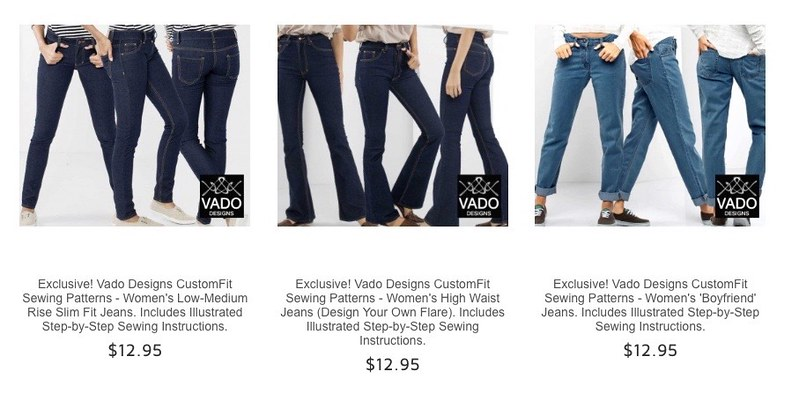 Bootstrap Fashion Vado design your own flare jeans in rigid denim from Rathdowne Fabrics