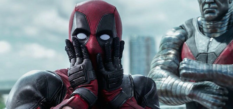 Ryan Reynolds reacts in mock surprise at how great DEADPOOL actually isn't.