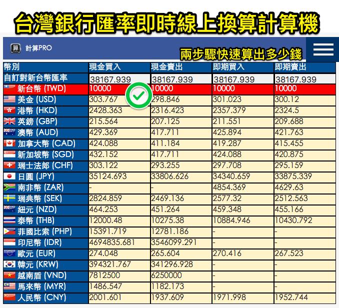 台灣銀行匯率換算計算機|計算Pro 2 拷貝 2.png