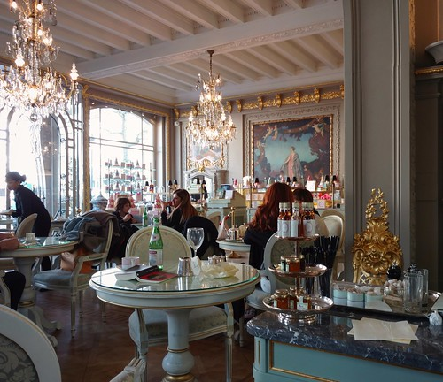In a cafe Ladurée, Brussels.