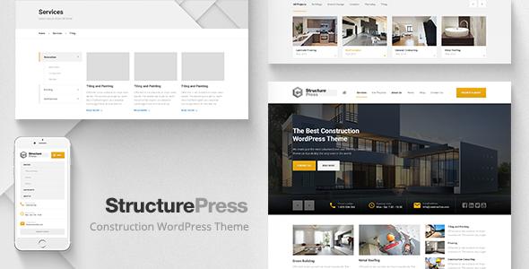 StructurePress v1.8.0 - Construction, Building WP Theme