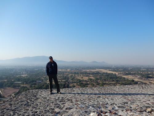 Teotihuacan - op Piramide del Sol - 2