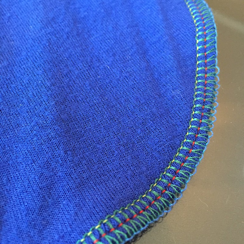 Blue Jersey Dress - In Progress