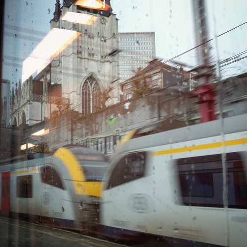 Through Brussels on the train.