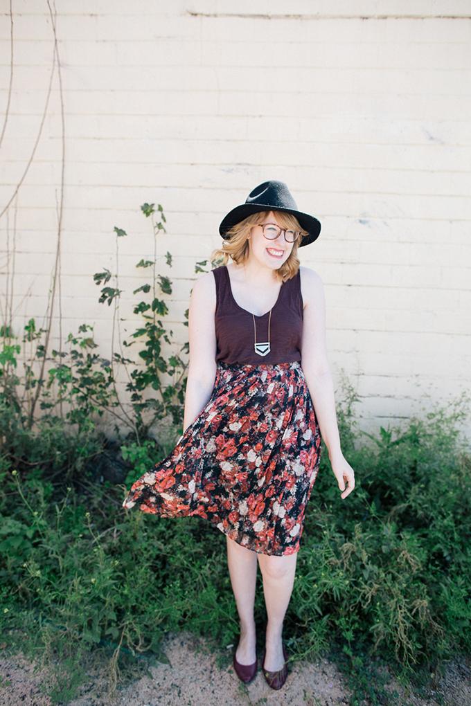 burgundy tank floral skirt1