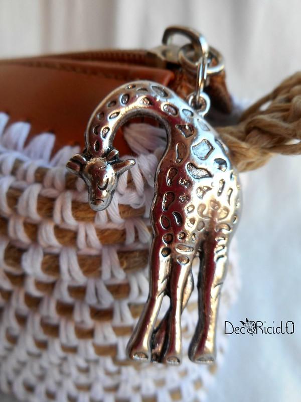 pochette spago e cotone con giraffa 7