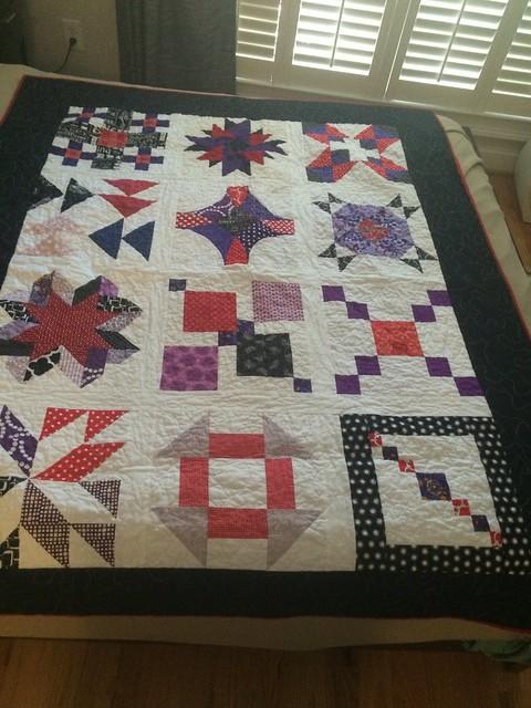 Red/Purple quilt