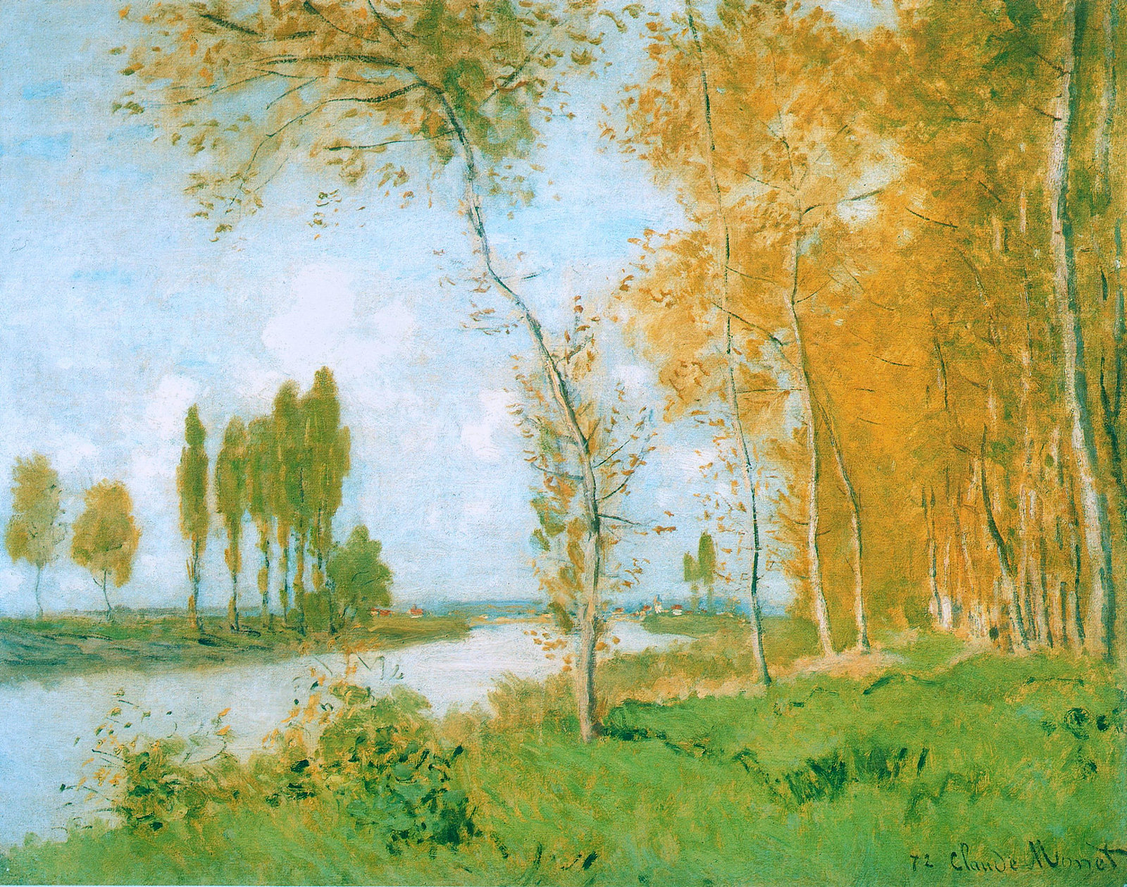 The Spring in Argentuil by Claude Monet, 1872