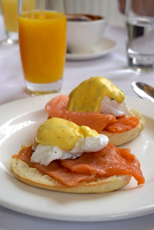 Eggs Royale with Chervil Hollandaise at The Orangery, Kensighton Palace | www.rachelphipps.com @rachelphipps