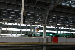 新青森駅での出発式