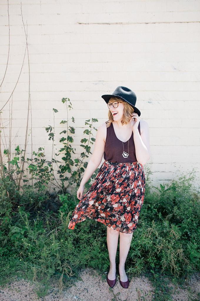 burgundy tank floral skirt3