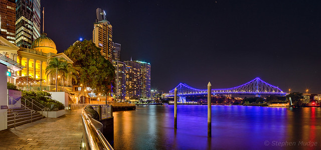 Customs House and Story Bridge (HDR panorama) small