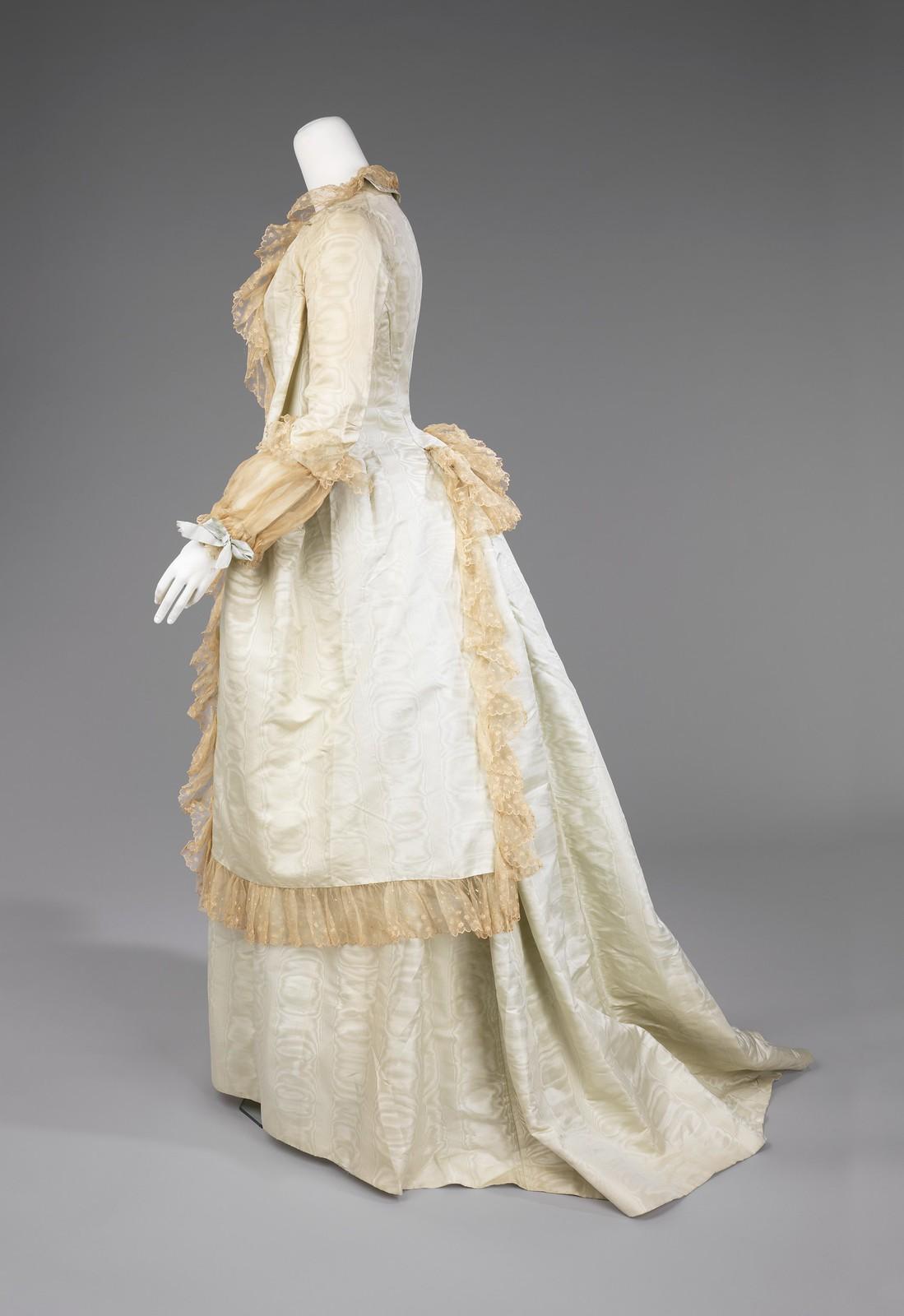 c1878. American. Silk, cotton. metmuseum