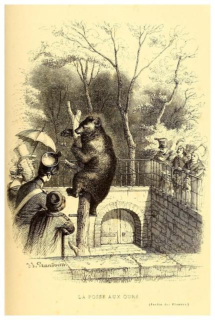 006- El foso de los osos-Le Jardin des plantes description et murs des mammifères..1842-Pierre Boitard