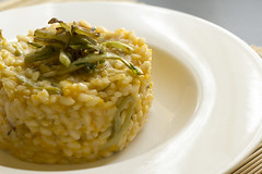 Risotto with pumpkin and puntarelle