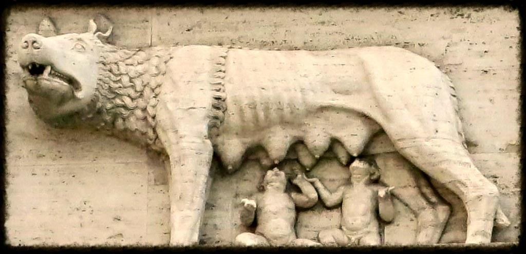 romulus bas relief
