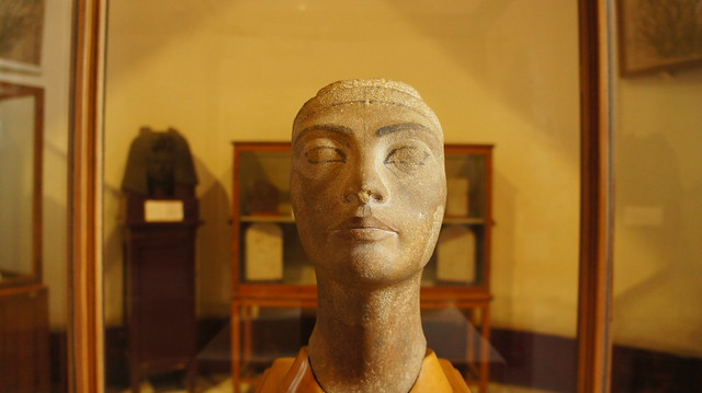 Queen Nefertiti's unfinished bust