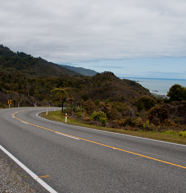 Route 6 vers Punakaiki