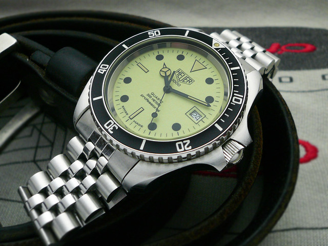 Heuer dive watches heuerville for Tag heuer divers watch