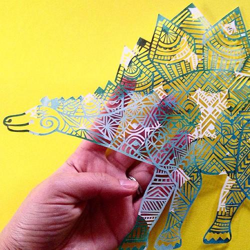 Dinosaur Paper Cutting - Pretty Paper Dreams