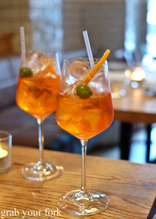 Aperol spritz at Casoni, Darlinghurst