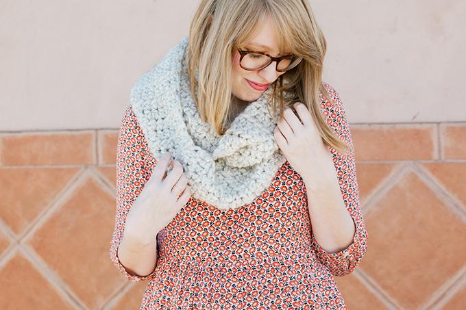 old navy smock dress knit scarf6