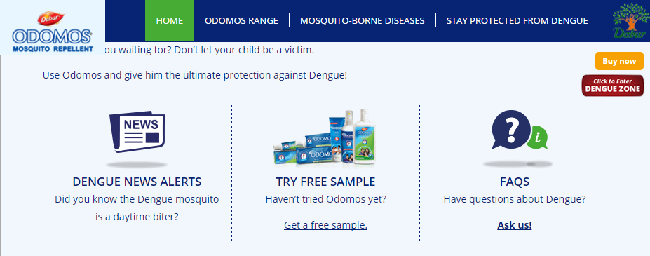 Odomos Free Sample India 2016