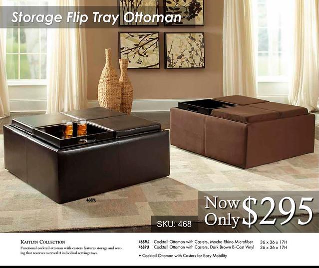 Storage Flip Top Ottoman