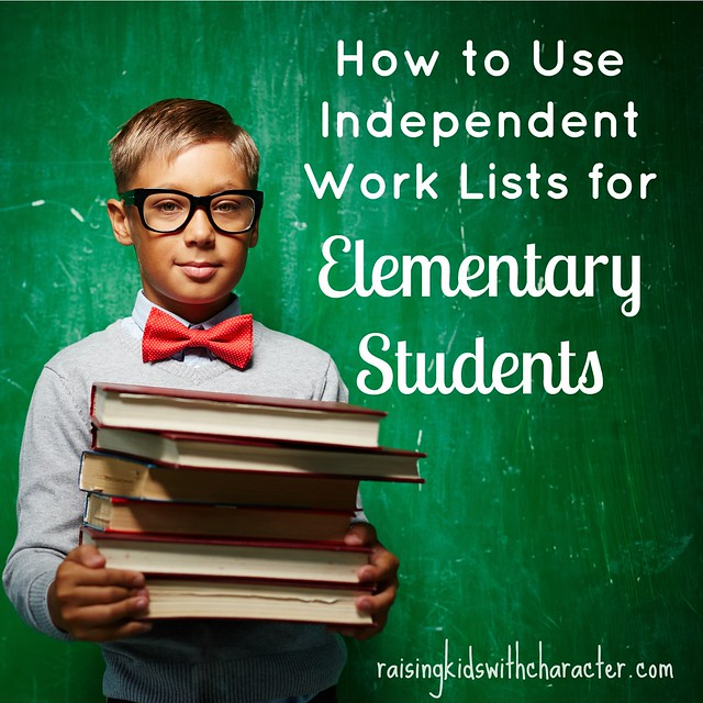 How to Use Independent Work Lists for Elementary Students