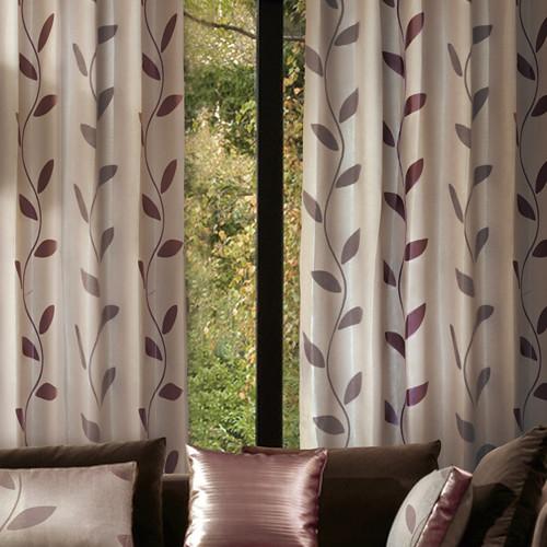 藤蔓 樹葉 半遮光無接縫窗簾布 DA1890037