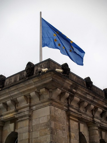 European flag at the Reichstag