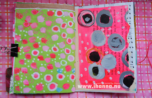 Mini Art Journal Small and Big Polka Dots - created by iHanna