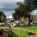 Main square of Cartago, seen from the ruins