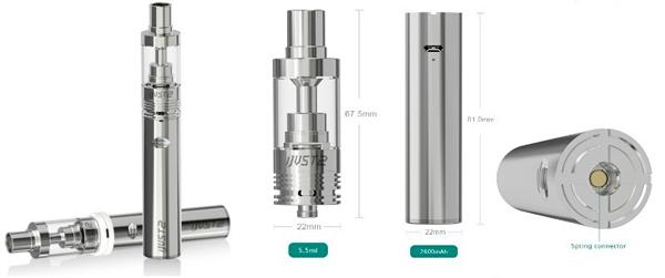Kit Cigarro Eletrônico iJust2 atomizador