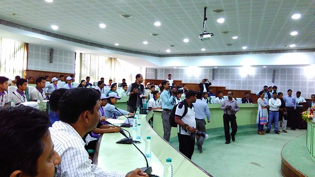 9 A section of the crowd during the interaction of Mr. S. Ramadorai Chairman NSDA and NSDC with Trainees of various Skill Development programs at Agartala